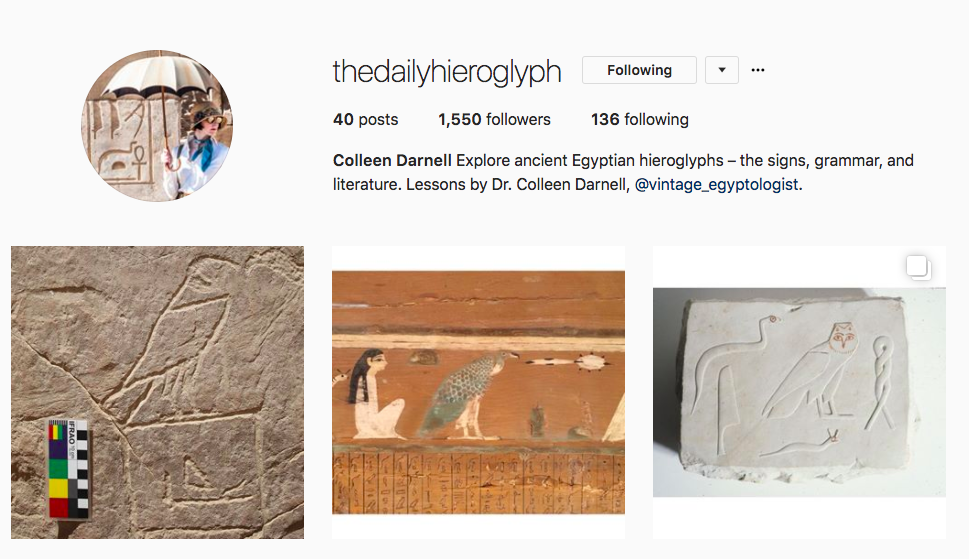 The Daily Hieroglyph on Instagram