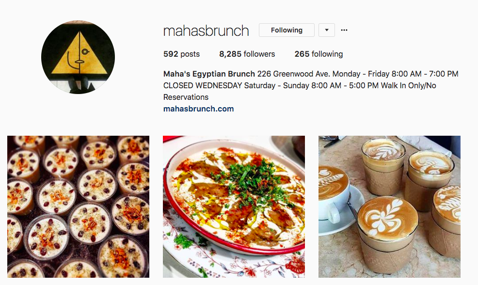 Maha's Brunch on Instagram