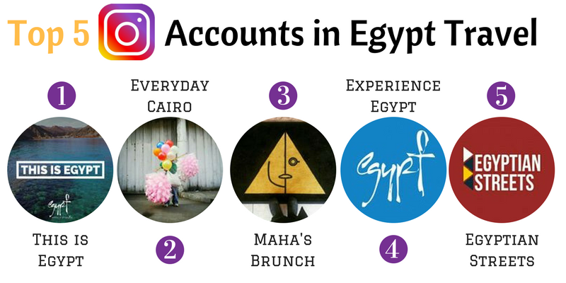 Top 5 Instagram Accounts for Egypt Travel