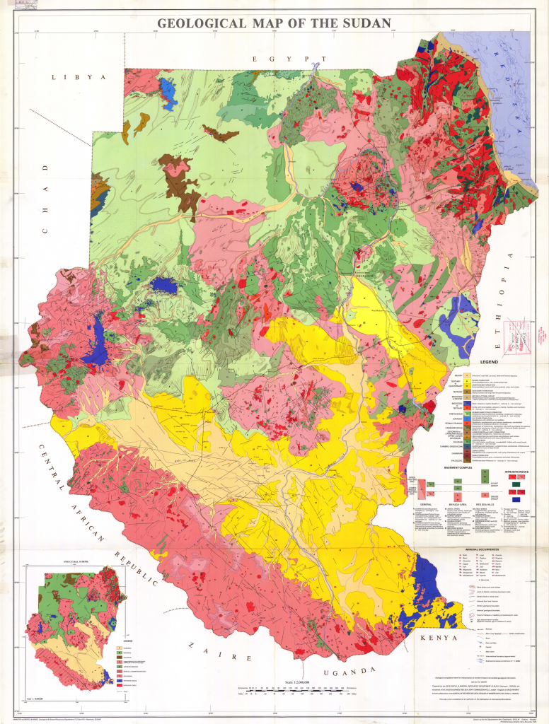 Figure 2: Geological Map of the Sudan (Ministry of Energy & Mines, Geological & Mineral Resources Department Khartoum, 1981)