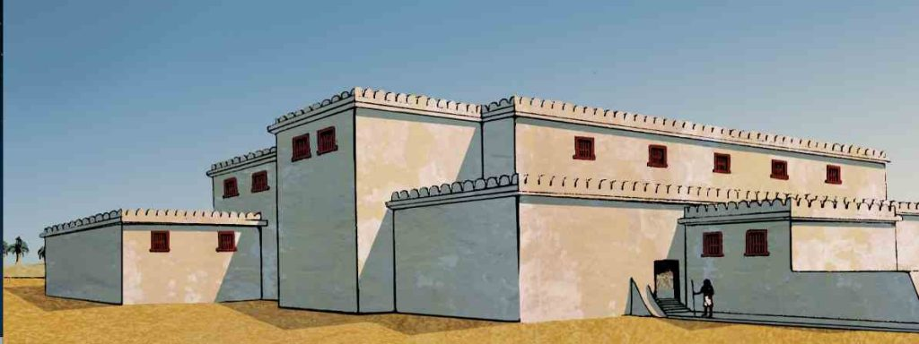The Northern Palace at Deir el-Ballas as reconstructed by Andrew Boyce