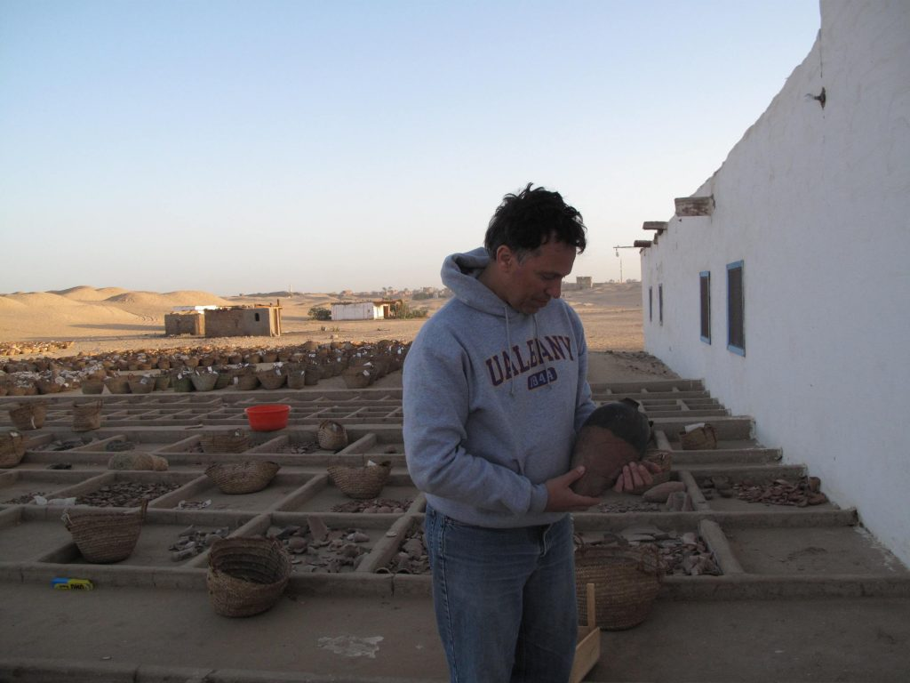 Peter Lacovara on site at Abydos