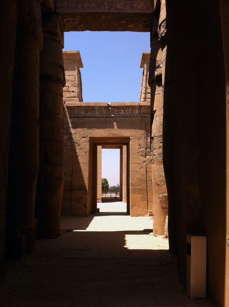 Looking out from the Khonsu Temple (photo: Nile Scribes)