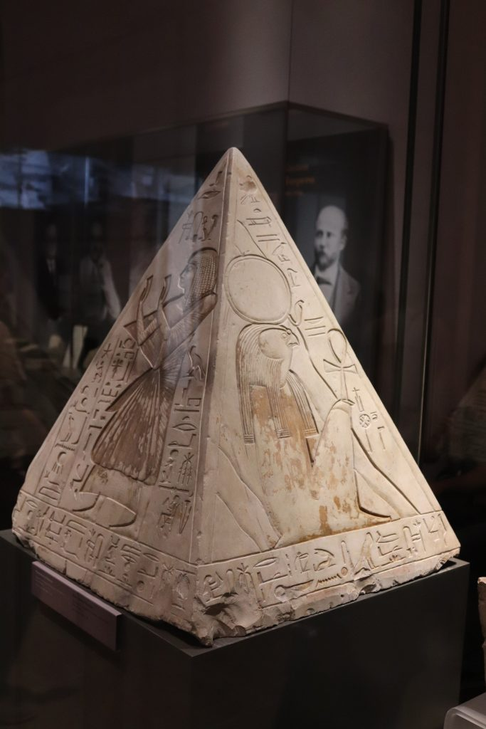 Pyramidion from the tomb of Ramose, Deir el-Medina, Nineteenth Dynasty (ca. 1,292–1,191 BC)