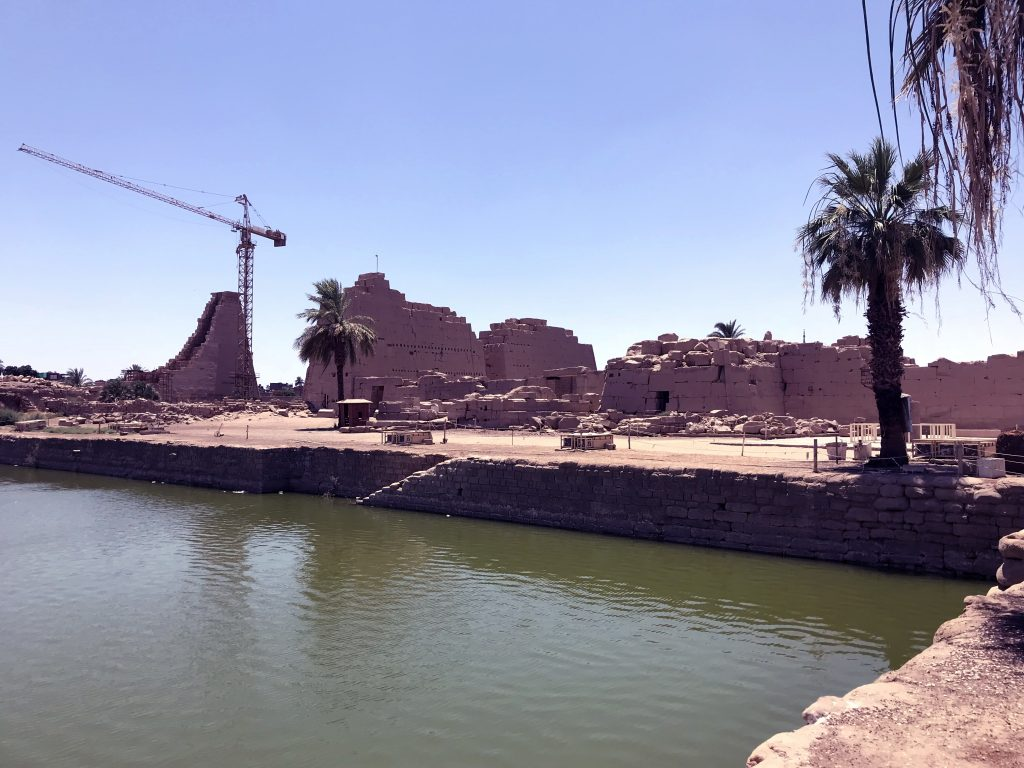 The sacred lake was an important element in Egyptian temple complexes