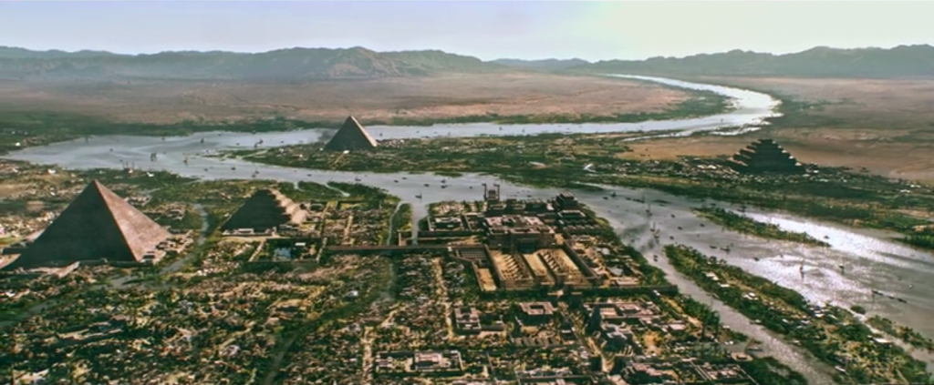 The Memphite landscape as shown in Exodus (photo: Screenshot)