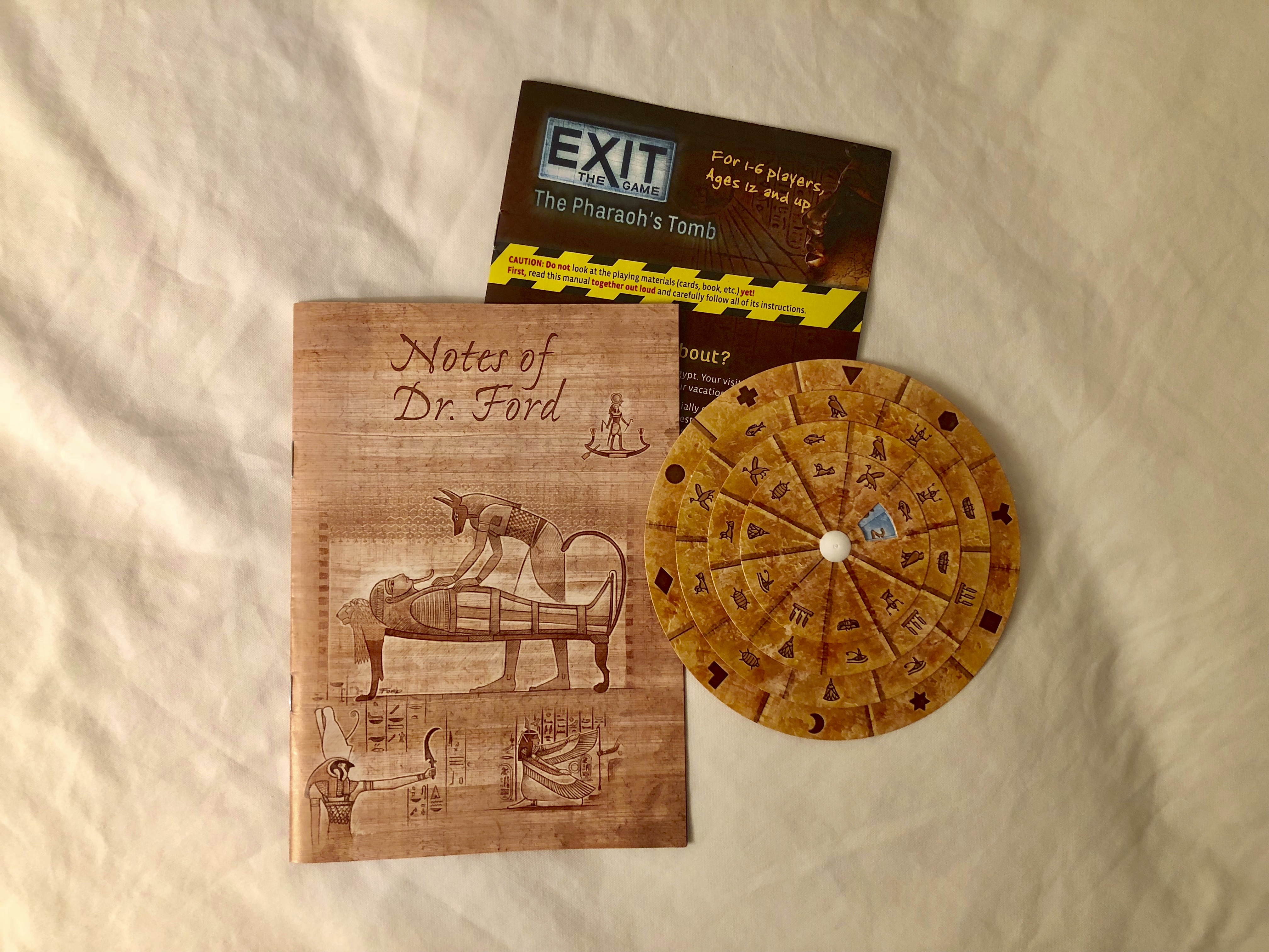 Game Review: Exit The Pharaoh's Tomb - Nile Scribes
