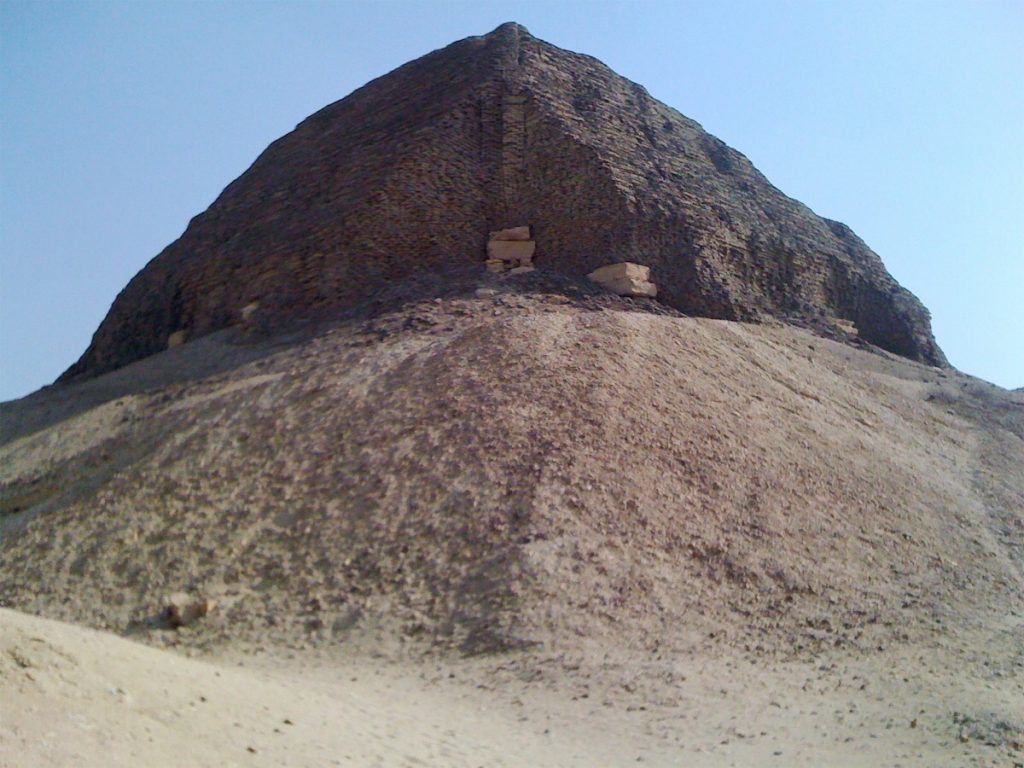 The pyramid of Senwosret II at Lahun - the ancient village nearby is called Kahun (photo: Nile Scribes)