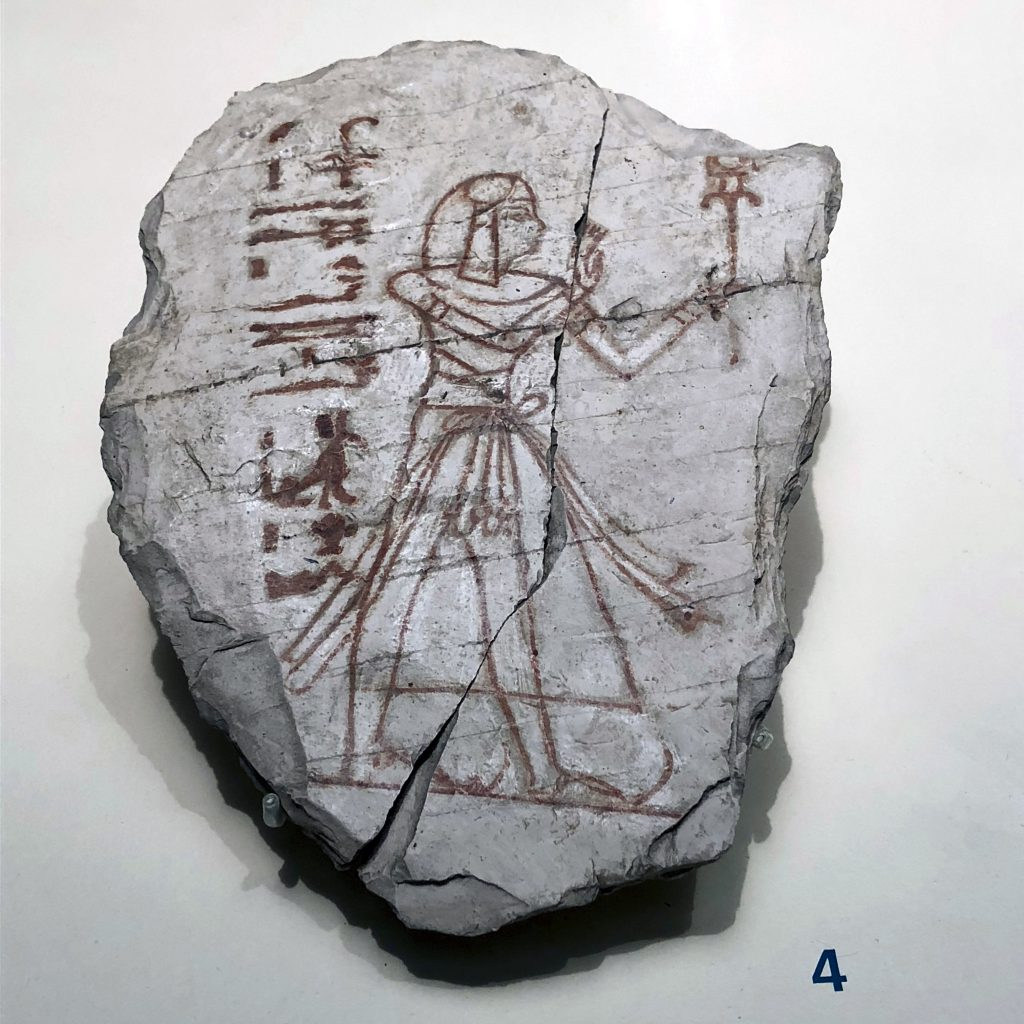 From large statues and reliefs, the exhibition also has smaller finds such as this ostrakon with a sketch of a prince - Object No. S.5637 (photo: Nile Scribes)