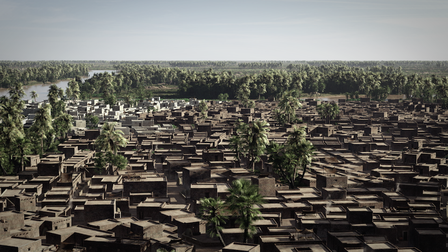 The city of Avaris during the Thirteenth Dynasty as reconstructed in the documentary (photo: Patterns of Evidence)