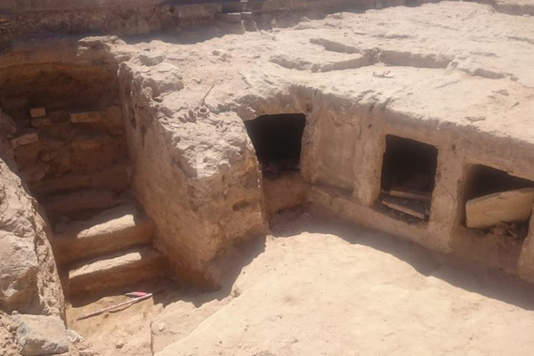 Ptolemaic rock-cut tombs recently found in Alexandria's western cemetery (Photo: Ministry of Antiquities)