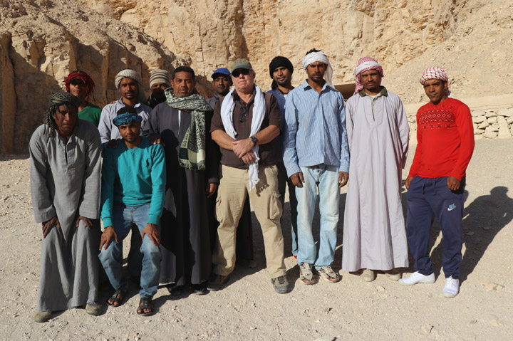Don Ryan and his Egyptian team during his 2017 field season (photo: Don Ryan)