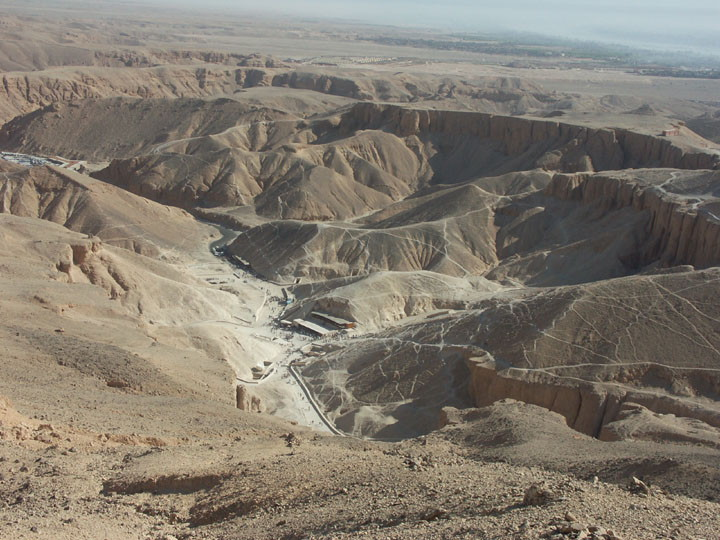 The Valley of the Kings viewed from above (photo: Don Ryan)