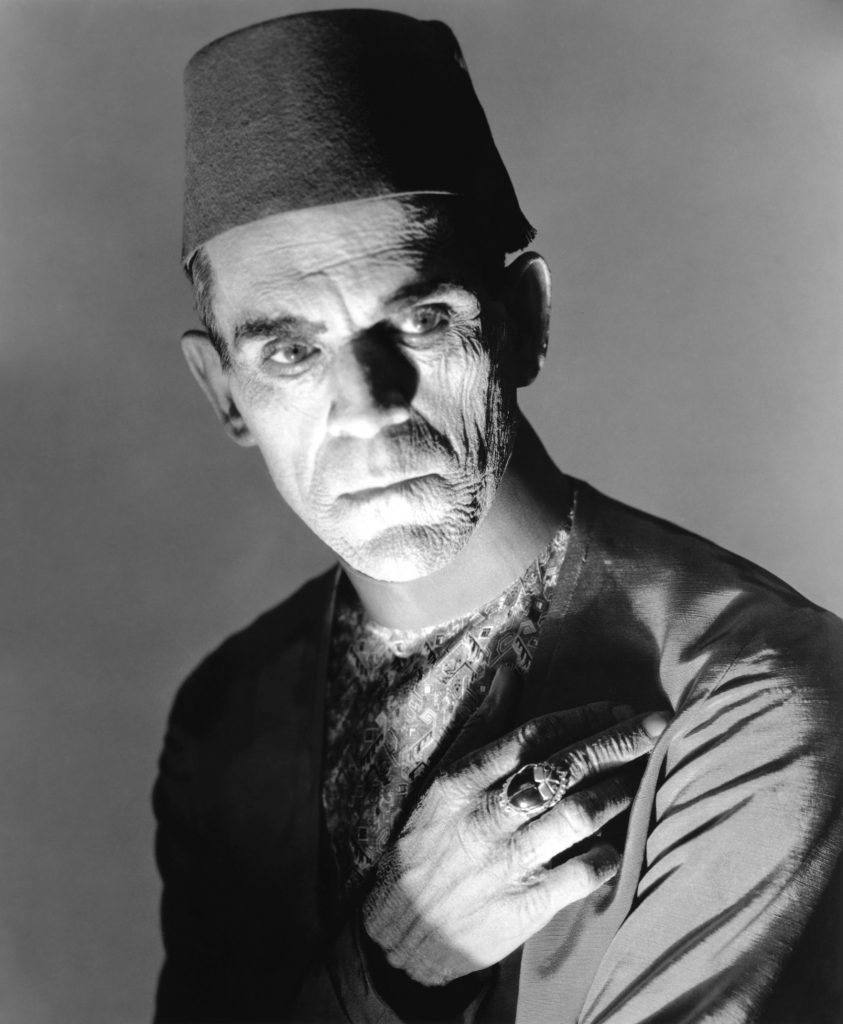 Boris                          Karloff as the disguised Imhotep from                          Universal's THE MUMMY (1932). (Photo:                          Universal)