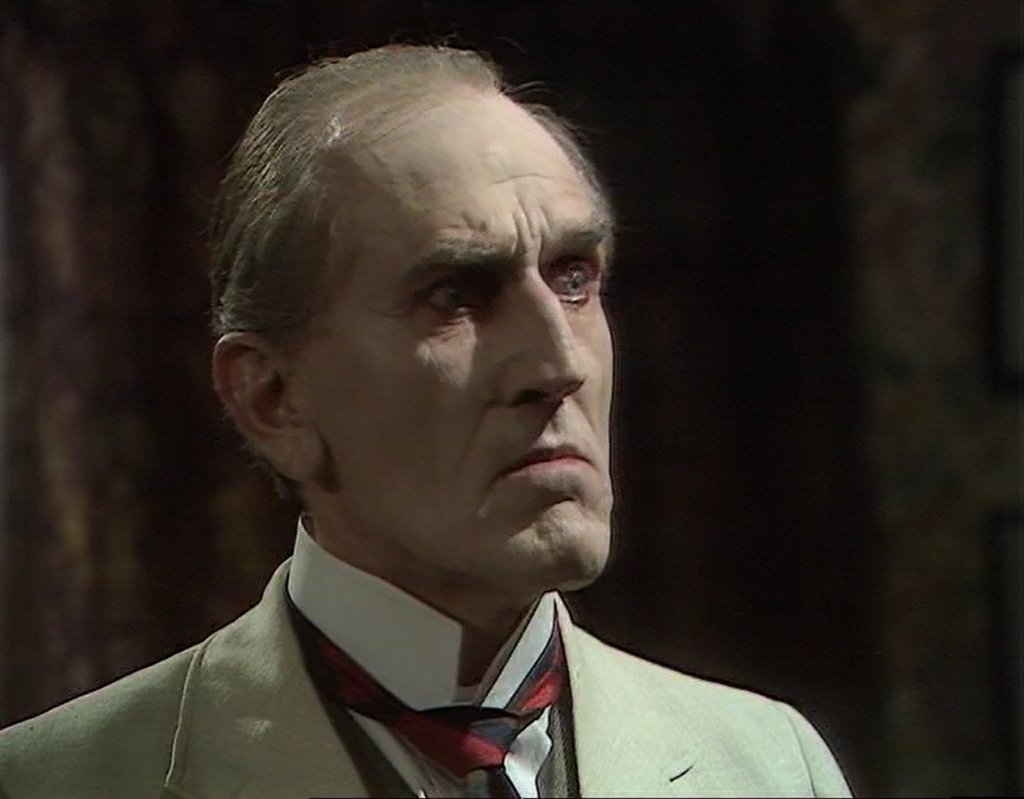 Marcus Scarman (Bernard Archard), the servant of Sutekh. (Photo: BBC)