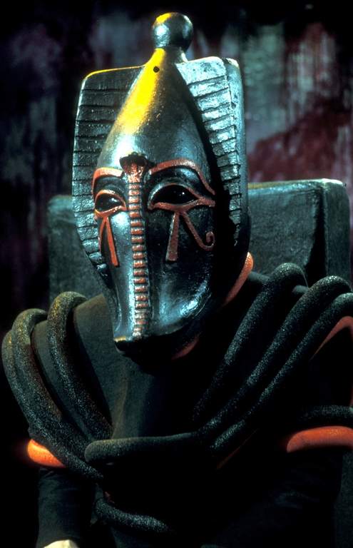 The Egyptian god Sutekh attempts to escape from his eternal prison in the Doctor Who series Pyramids of Mars (photo: BBC Archives)
