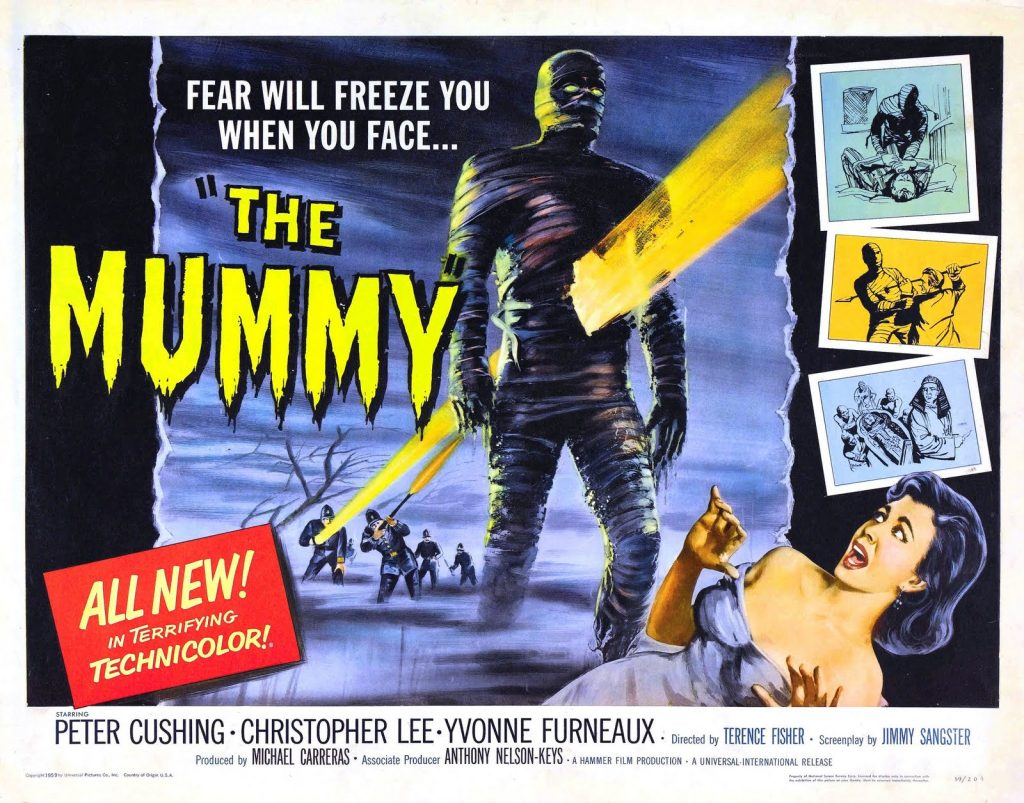 Poster                          for Hammer's THE MUMMY (UK, Terence Fisher,                          1959). (Photo: Hammer Film)