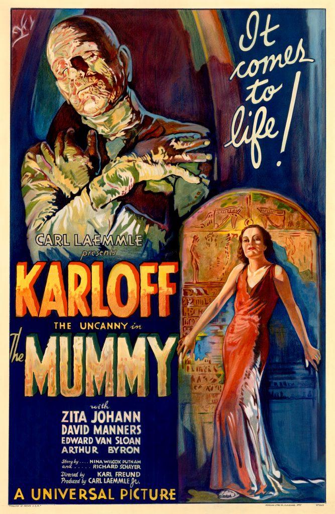 Poster                          for Universal's THE MUMMY (US, Karl Freund,                          1932). (Photo: Universal)