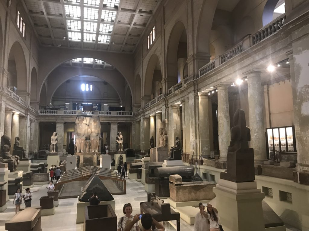 The main hall of the Egyptian Museum in Cairo holds some of the most monumental pieces (Photo: Nile Scribes)