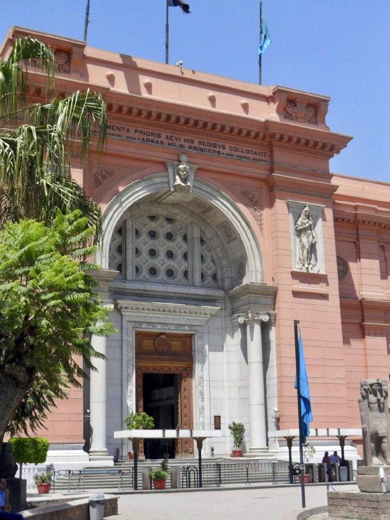 Entering Cairo's famous Egyptian Museum (Photo: Nile Scribes)