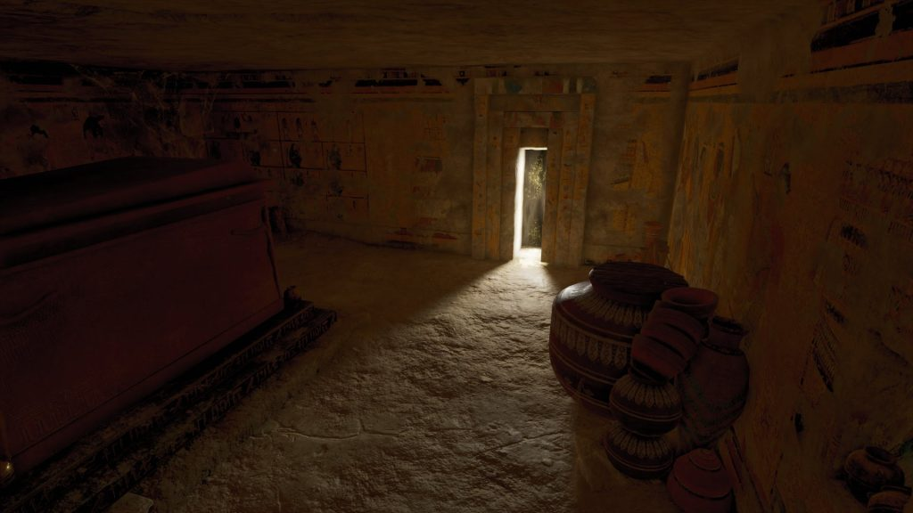 False door leading to the afterlife in the rear of Tutankhamun's in-game tomb (KV 62). (Photo: Ubisoft)