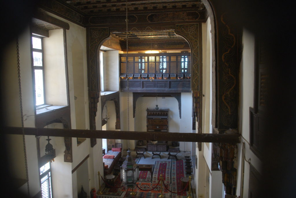 The formal reception room viewed from the second floor of the house (Photo: Nile Scribes)