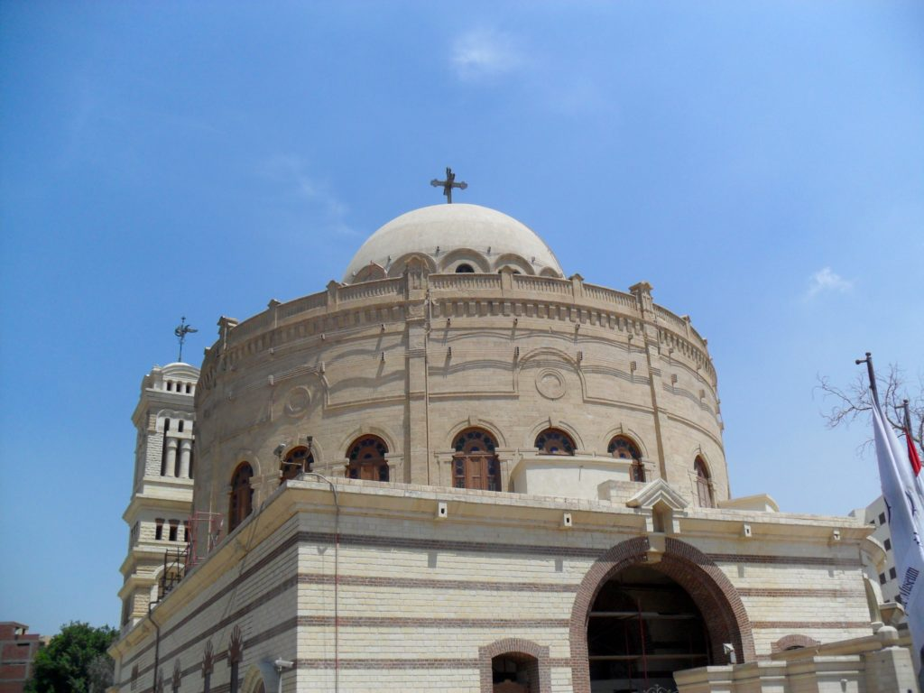 The Greek Orthodox Church of St. George dominates the entrance to the area where the Coptic Museum is located (Photo: Nile Scribes)