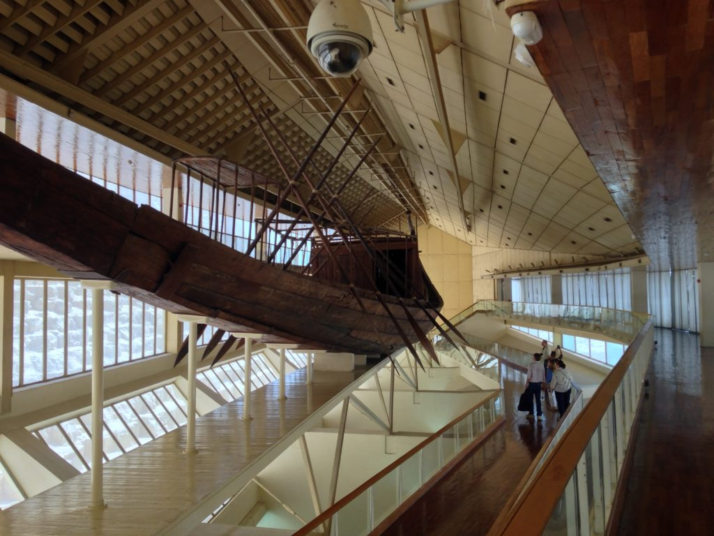 Khufu's solar boat was discovered in 1954 in a pit beside his pyramid (Photo: Nile Scribes)