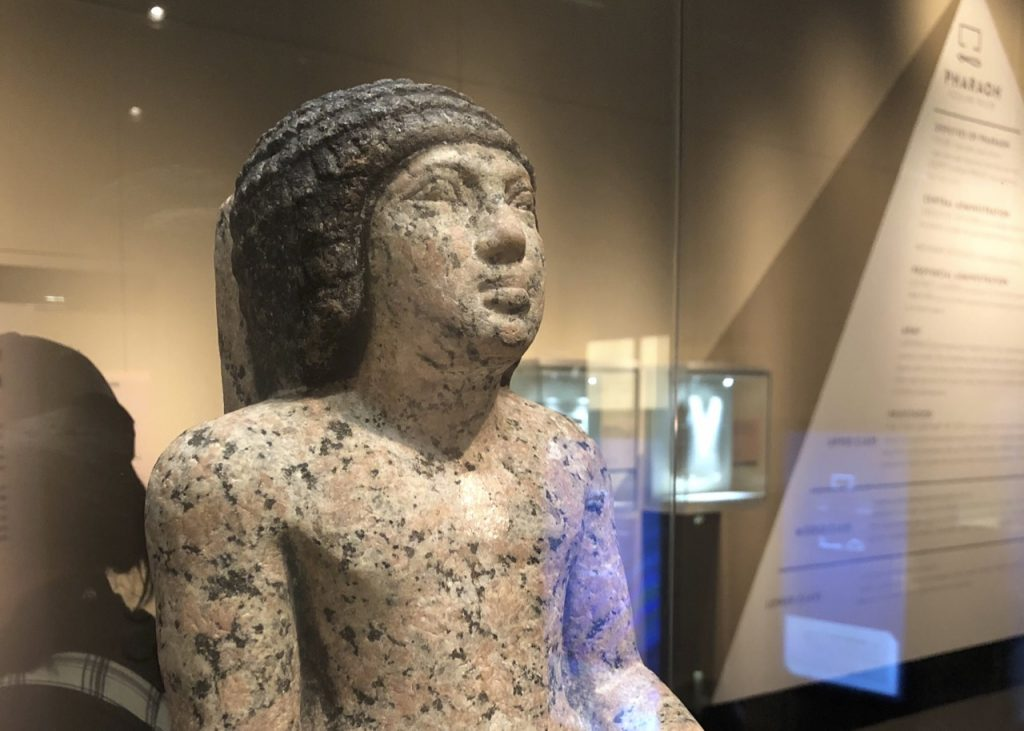 Neferihi's statue is made of Aswan's famous granite with his hair painted in black (Photo: Nile Scribes)