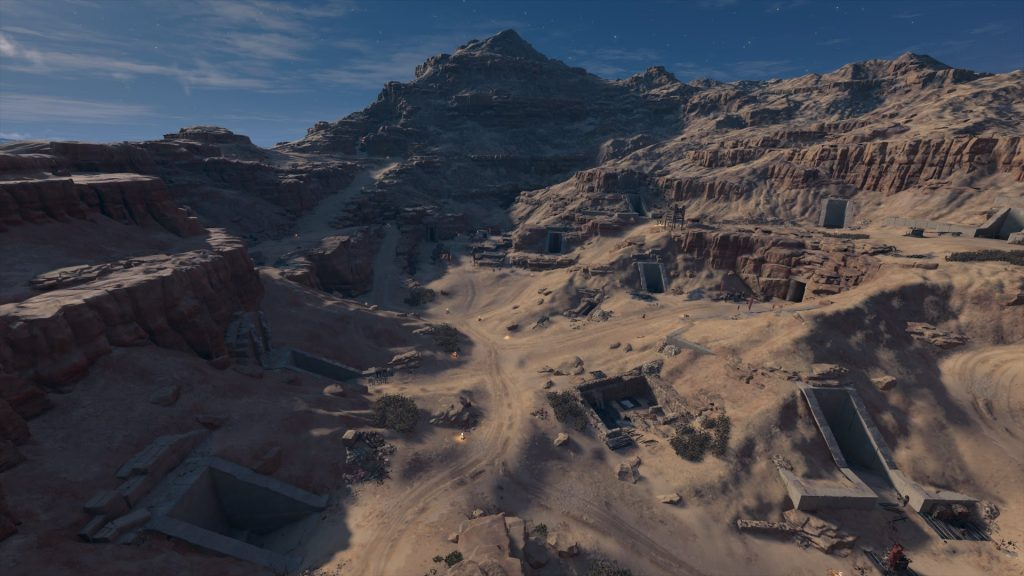 An aerial view of the Valley of the Kings, facing south. (Photo: Ubisoft)