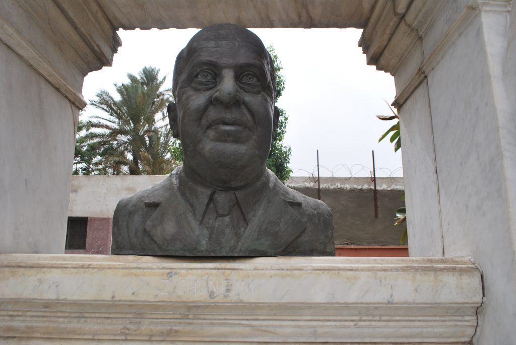 Bust of Zakaria Goneim (Photo: Nile Scribes)