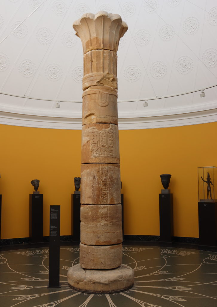 Sandstone column from the temple of Taharqa, Kawa, c. 690            – 664 BC (Photo: Katherine Piper)