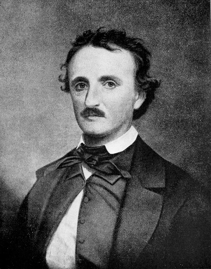 Portrait of Edgar Allen Poe after an engraving                      by Oscar Halling (photo: WikiMedia)