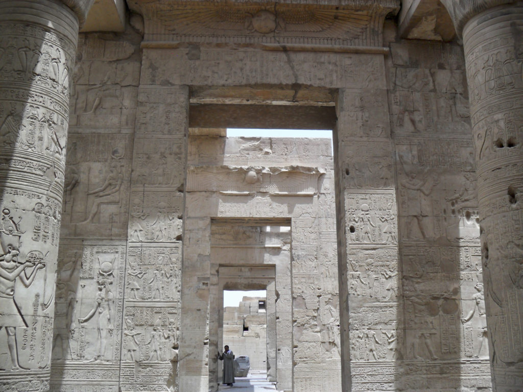 Several doorways stand between the entrance the main sanctuary (photo: Nile Scribes)