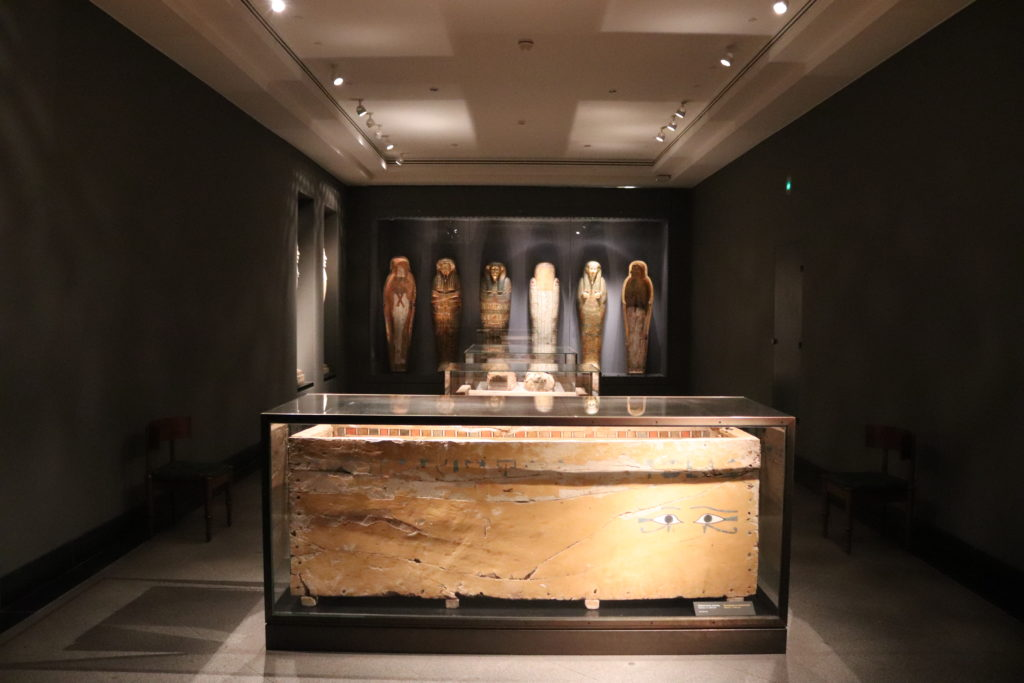 View of the mummies and coffins room (Photo: Katherine Piper)