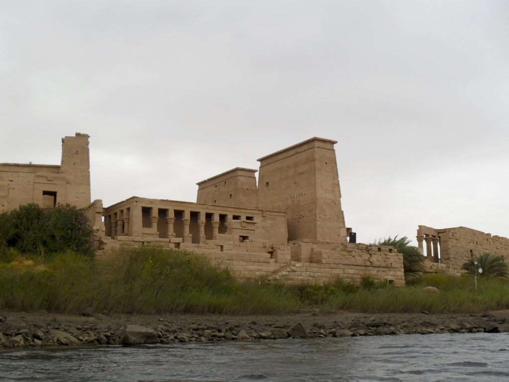The central area of the temple with the main pylon is visible in the centre (photo: Nile Scribes)