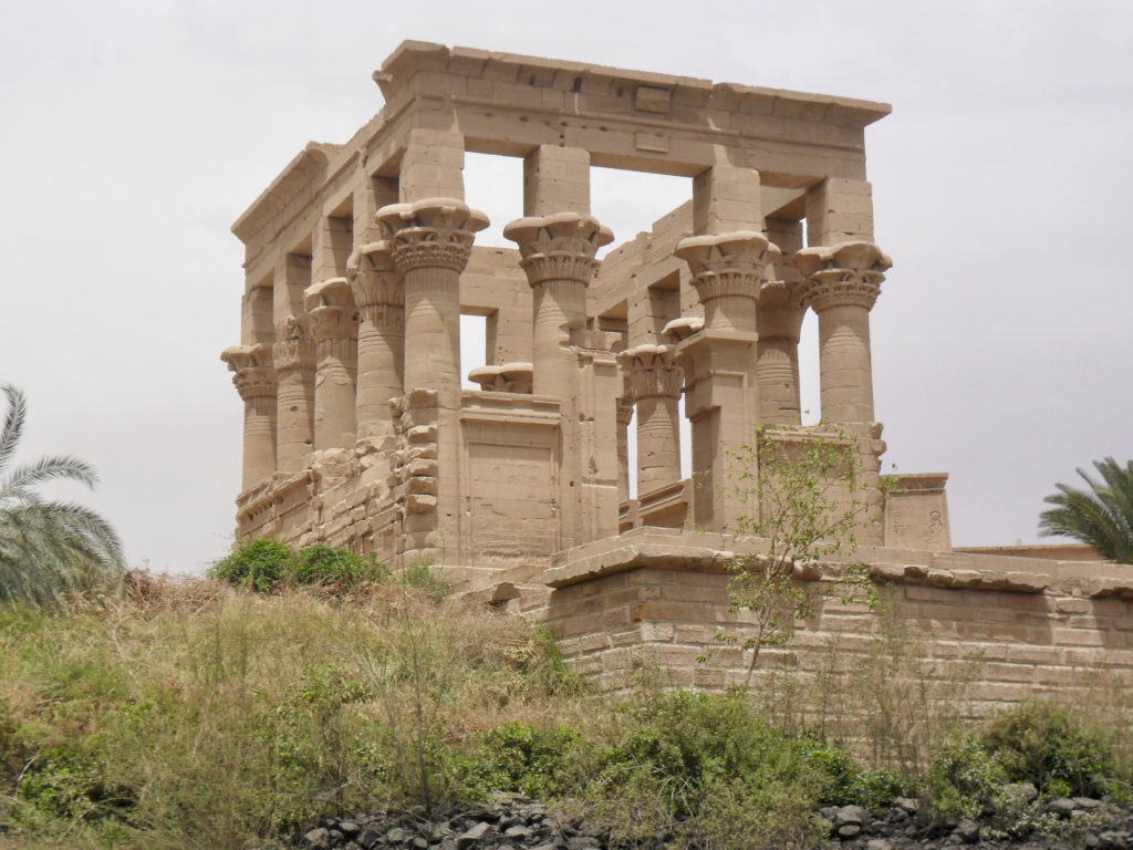 Trajan's Kiosk dominates the island on the eastern side and features beautifully carved columns (photo: Nile Scribes)