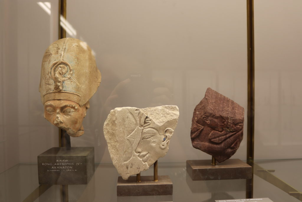 Three portraits of Akhenaten, Amarna, c. 1365 – 1347 BC (Photo: Katherine Piper)