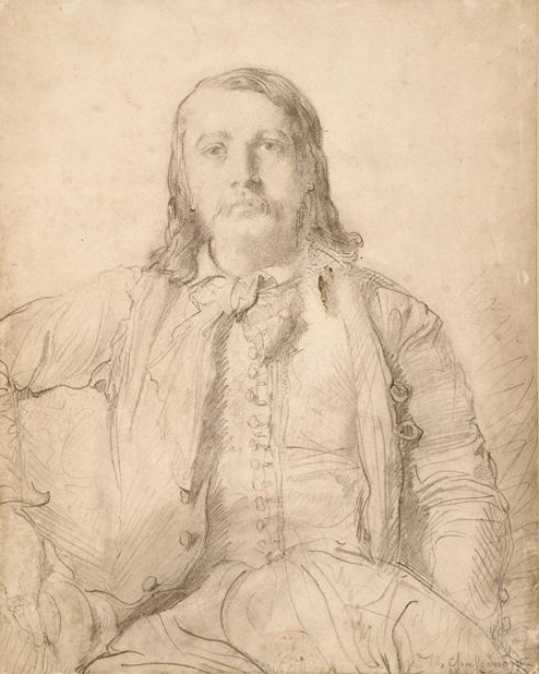 Portrait of Théophile Gautier by Théodore                      Chassériau (photo: WikiMedia)