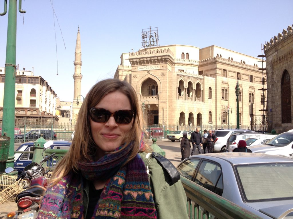 Dr. Katherine Blouin in Medieval Cairo (photo: Katherine Blouin)