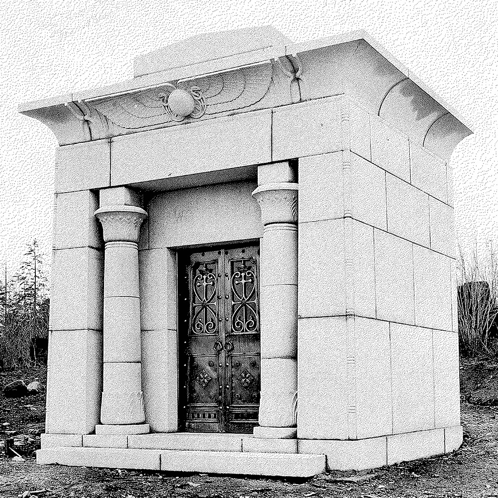 The mausoleum from a photograph in the 1920s (photo:            Masonic Cemetery Burnaby)
