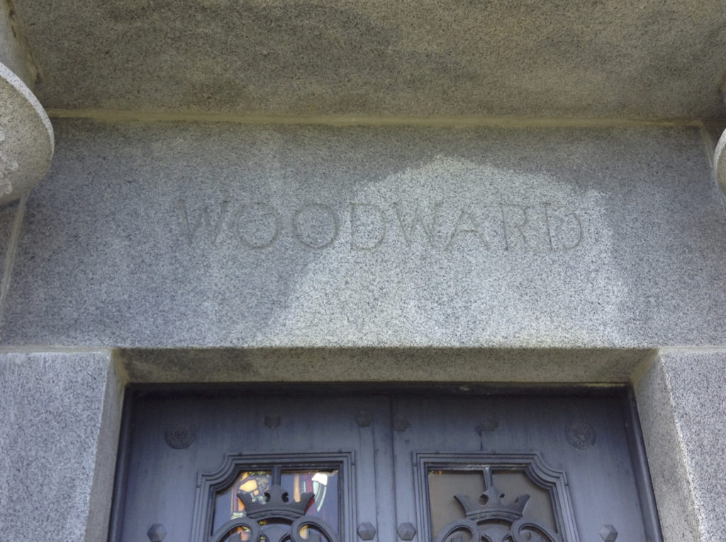 The name Woodward                is written atop the door (photo: Nile Scribes)