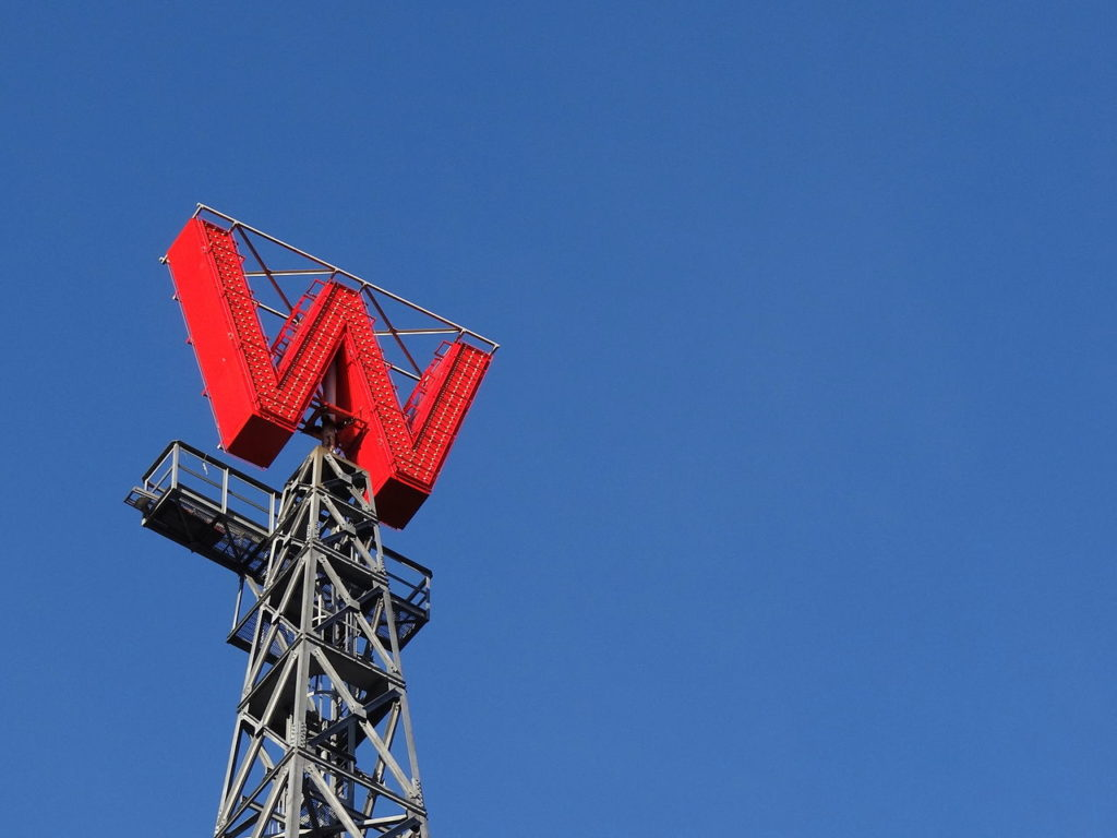 "The ""W""-sign is one of the last remnants from the original Woodward's Building (photo: Adam Jones)"