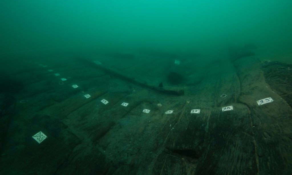 A type of ship known as baris has recently been                  found at Thonis-Heraklion: it confirms a detailed                  description of the vessel preserved in Herodotus'                  writings (Photo: Christoph Gerigk/Franck Goddio/Hilti                  Foundation)