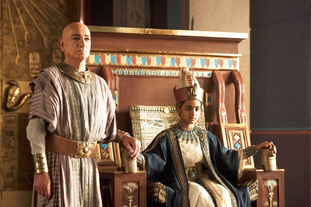 Ben Kingsley stars as the Vizier Ay, an important advisor during the young king's reign (Photo: Spike TV)