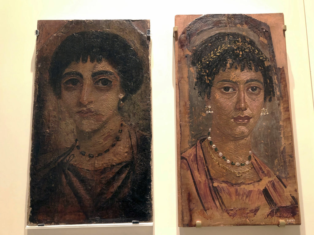 Two mummy portraits have recently been reunited when the museum reacquired one of them (the portrait on the left was sold in 1912) (Photo: Nile Scribes)