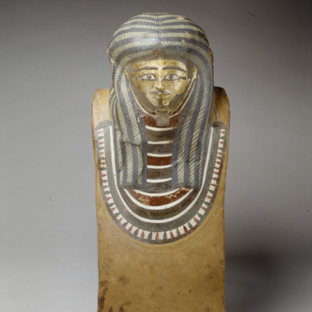 Wah's funerary mask was found in his tomb at Thebes and is located in the Metropolitan Museum of Art today (accession no. 40.3.54) (Photo: Metropolitan Museum of Art)