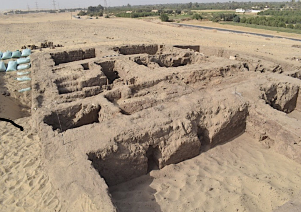 Remains of a house of Ptolemaic times has been                      discovered in the Tuna el-Gebel area (Photo: Egypt                      Today)