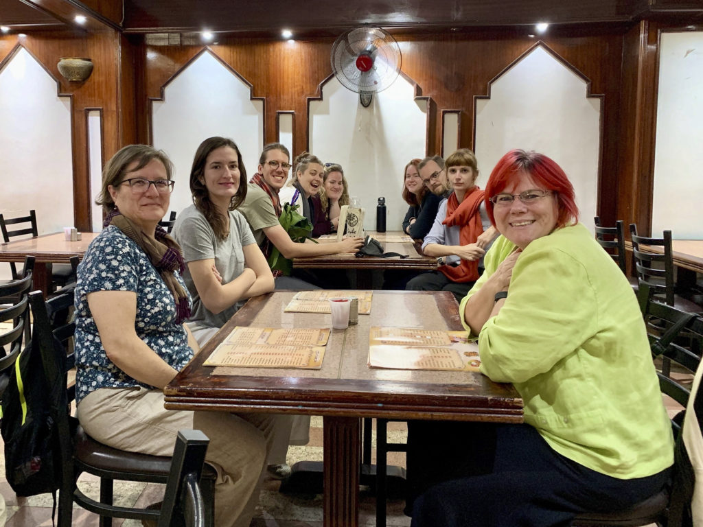 Our group was eager to explore the many delicacies of Egyptian cuisine whenever they could as seen here awaiting their dishes atal-Gadrestaurant (Photo: Nile Scribes)