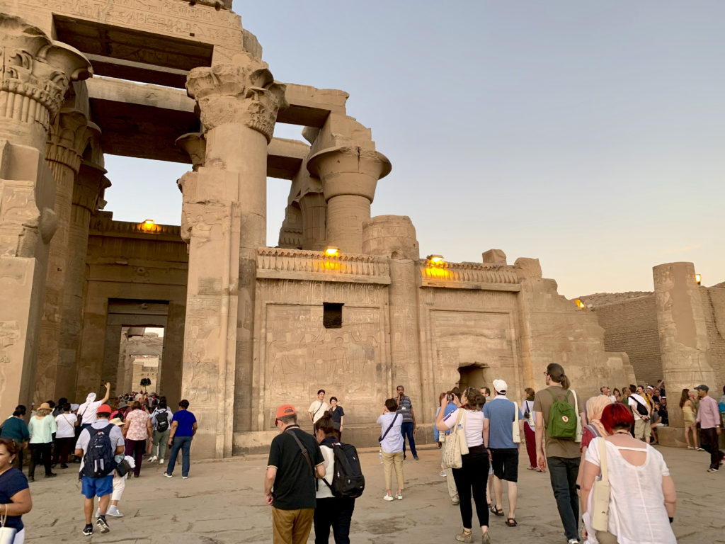 Many sites along the tour such as Kom Ombo Temple saw large troves of tourists (Photo: Nile Scribes)
